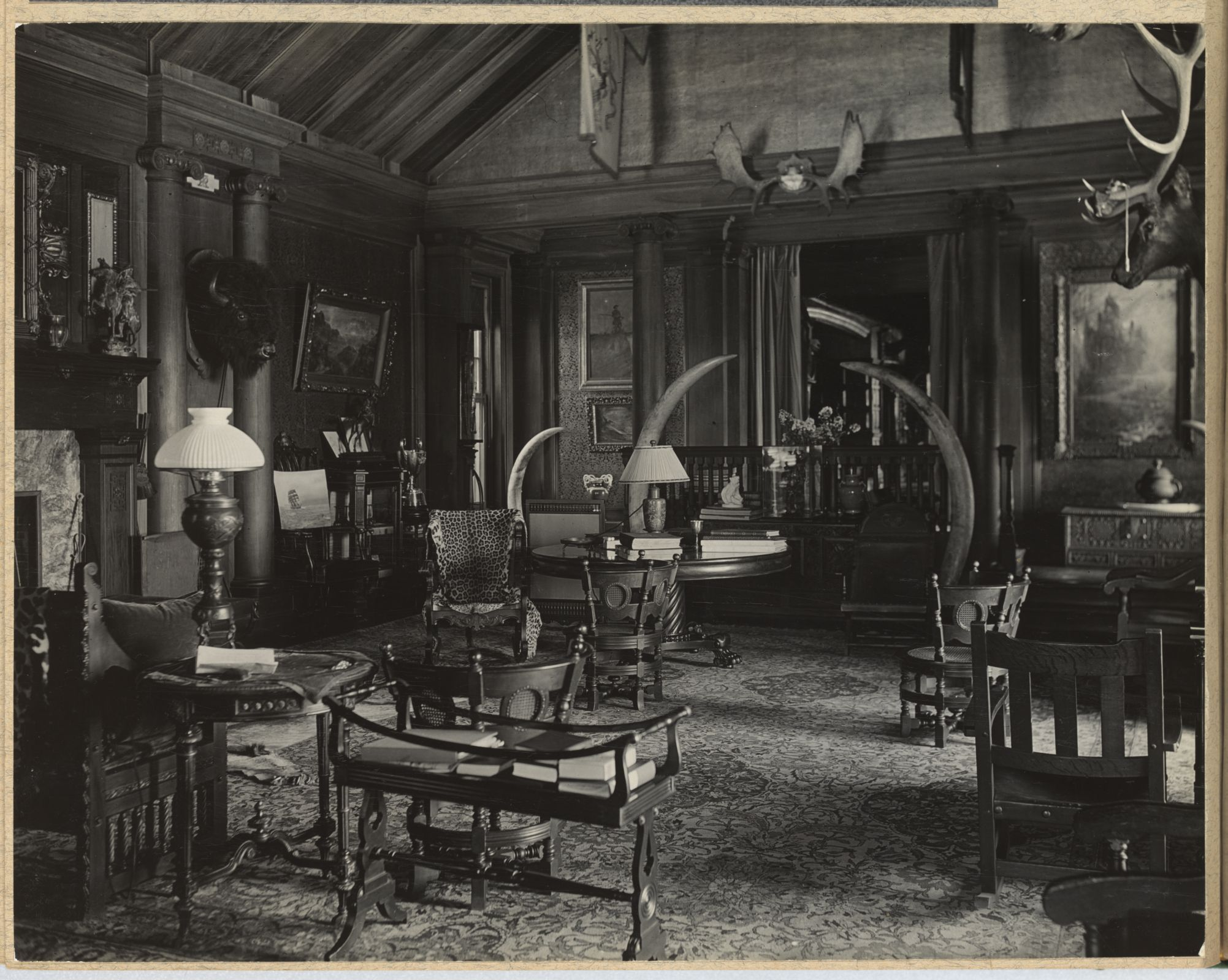 The North Room at Sagamore Hill circa 1912. From the Roosevelt Family albums, Library of Congress Prints and Photographs division.