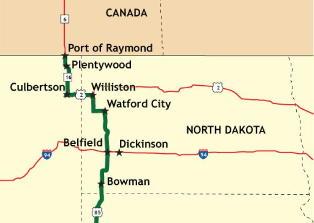 TR Center Theodore Roosevelt Expressway - Us highway 2 map