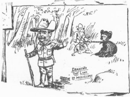 The famous Berryman cartoon which started it all. From the Library of Congress Manuscripts division.