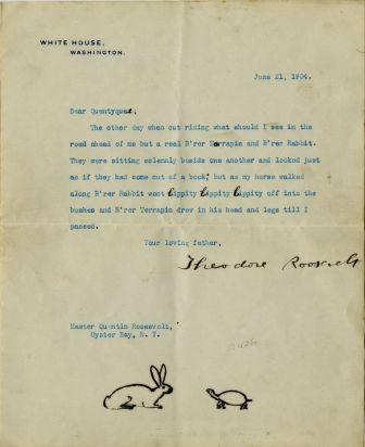Letter from Theodore Roosevelt to Quentin Roosevelt