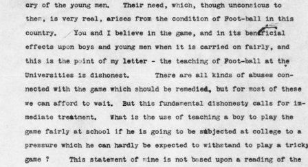 Detail, Letter from Endicott Peabody to Theodore Roosevelt, September 16, 1905.