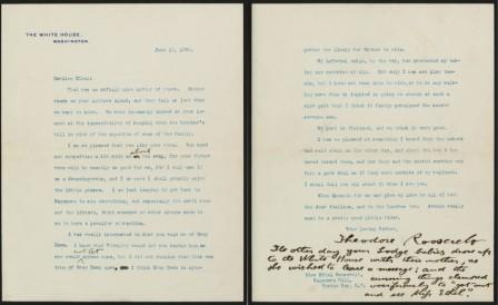 Letter from Theodore Roosevelt to Ethel Roosevelt, June 13, 1906. MS Am 1541.2 (23). Houghton Library. Harvard University.