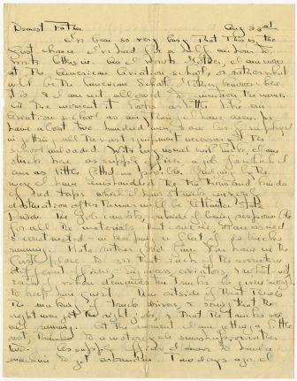Letter from Quentin Roosevelt to Theodore Roosevelt