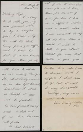 Letter from Theodore Roosevelt to Anna Roosevelt Cowles, March 17, 1878