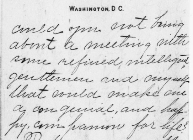 Detail from Letter from Tallulah V. Lang to Theodore Roosevelt