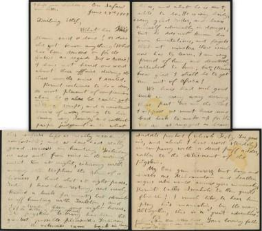 Letter from Theodore Roosevelt to Ethel Roosevelt