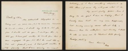 Letter from Theodore Roosevelt to Alice Hathaway Lee