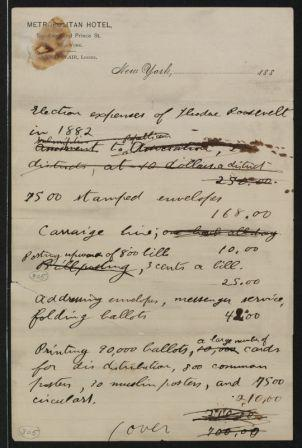 Campaign expenses for Theodore Roosevelt