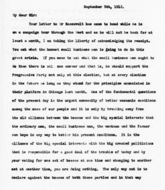 Letter from Frank Harper to Wallace O. Jones