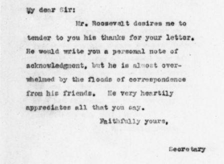 Letter from Frank Harper to S. C. Roach