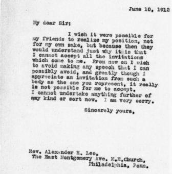Tr center the humble form letter letter from theodore roosevelt to alexander h leo spiritdancerdesigns Choice Image