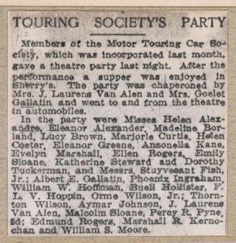 Touring Society's Party