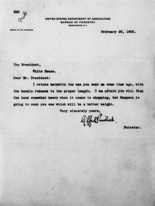 Gifford Pinchot letter
