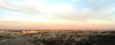Badlands at Dusk