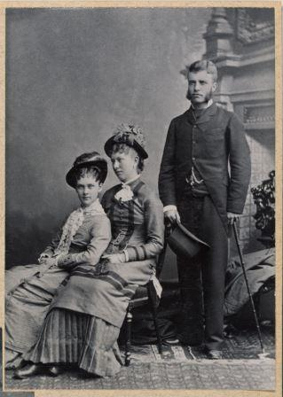Theodore Roosevelt, Alice Hathaway Lee, and Rose Saltonstall