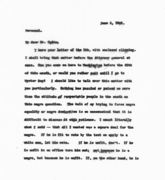 Letter from Theodore Roosevelt to Rollo Ogden