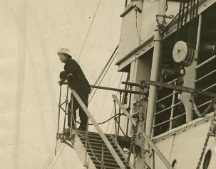Theodore Roosevelt aboard the Aidan on his return from South America