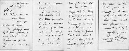 Letter from George von Lengerke Meyer to Theodore Roosevelt