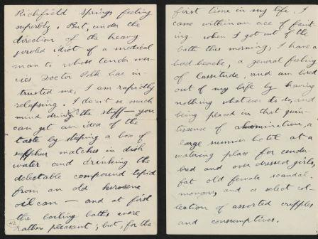 Letter from Theodore Roosevelt to Corinne Roosevelt Robinson