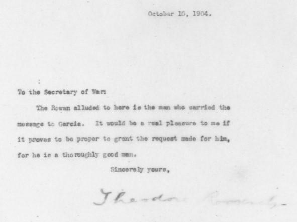 president roosevelt to secretary of war taft october 10 1904