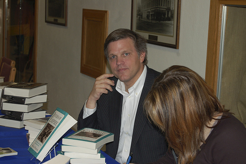 Douglas Brinkley signs books