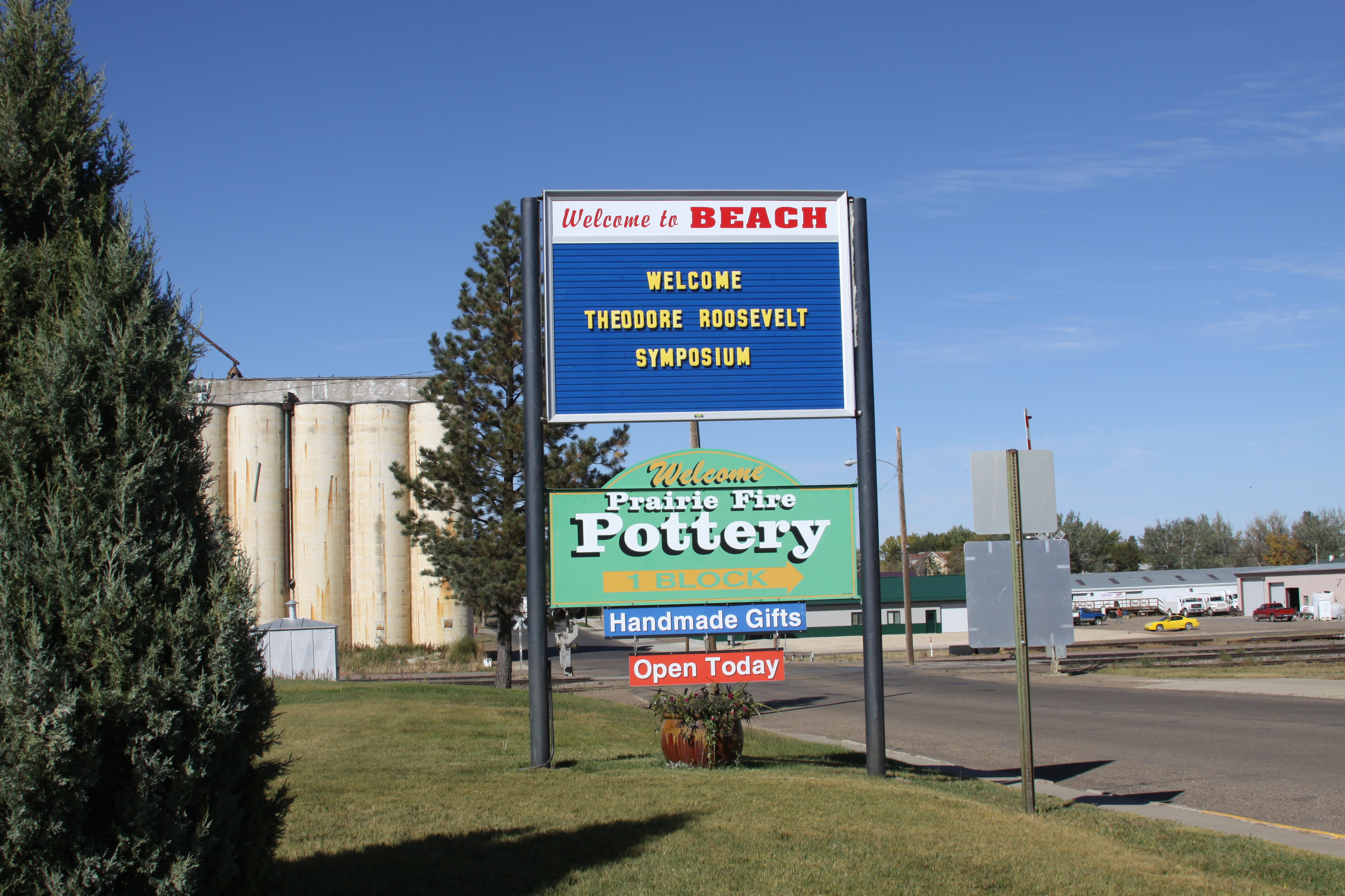 Sign in Beach, ND